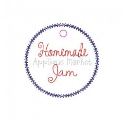 In The Hoop Tag Homemade Jam