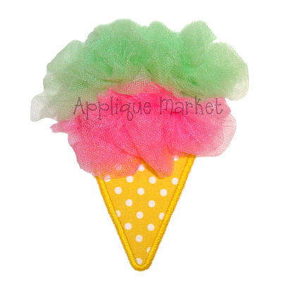 Tulle Ice Cream Cone