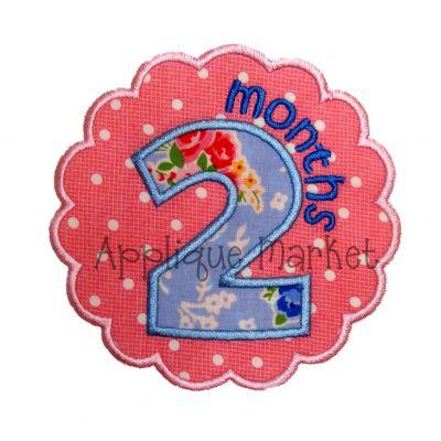 Scallop Circle Month Set