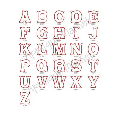 North Pole Applique Alphabet