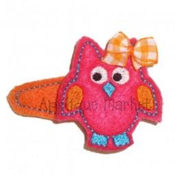 Owl Barrette Felt Design