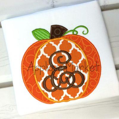 Pretty Pumpkin 7 Applique Design