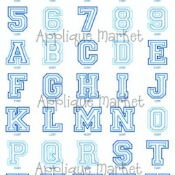 College Double Applique Alphabet