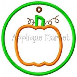 In The Hoop Pumpkin Tag