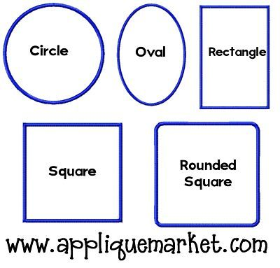 Applique Shapes