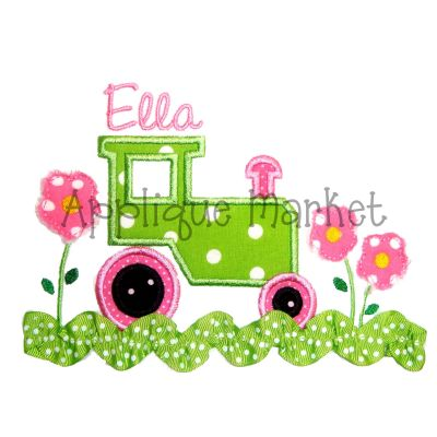 Tractor with Flowers