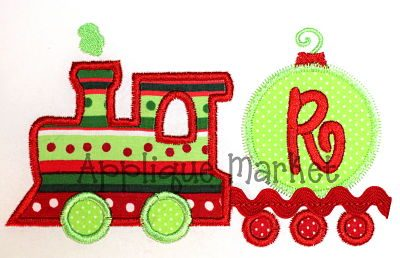 Ric Rac Train Ornament