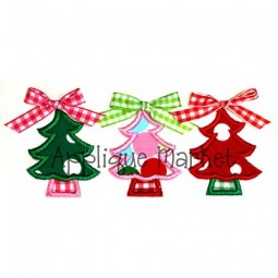 tree trio - Christmas Tree Applique