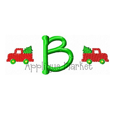 Truck with Tree Mini Monogram