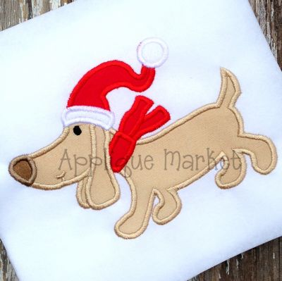 Weiner Dog Santa 1