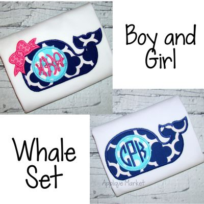 Whale Boy And Girl Set