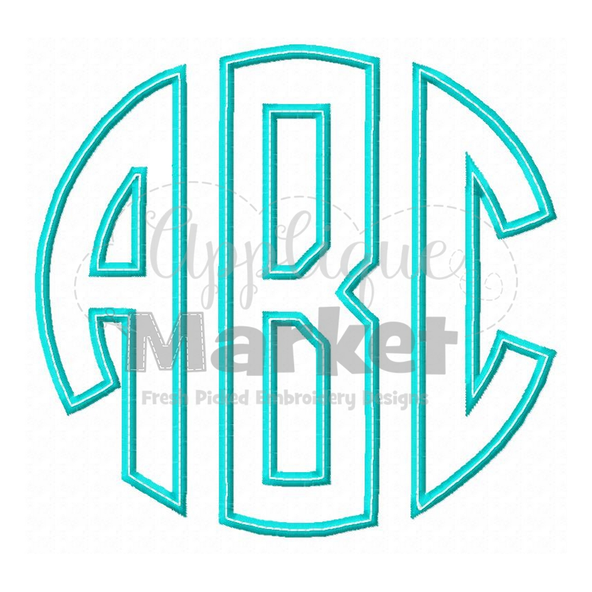 Circle monogram applique for Monogram homes