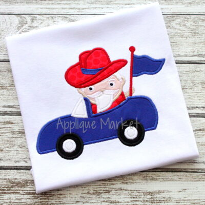 applique embroidery mascot  car southern gentleman