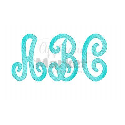 scroll monogram sketch fill