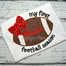 applique embroidery football bow beaded dot my first football season_opt