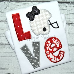 applique embroidery love football helmet bow beaded dot_opt
