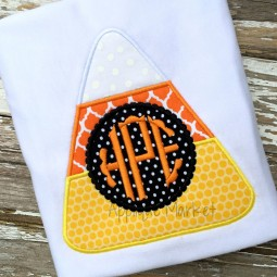applique embroidery monogram frame beaded candy corn_opt