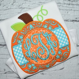 applique embroidery pumpkin circle frame monogram2_opt