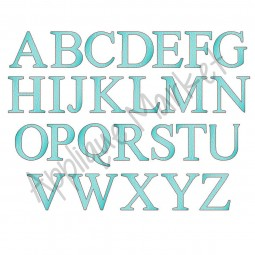 serif sketch fill alphabet