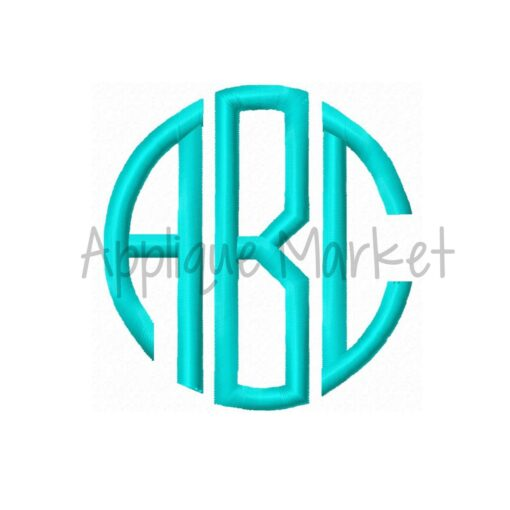 natural circle monogram satin font