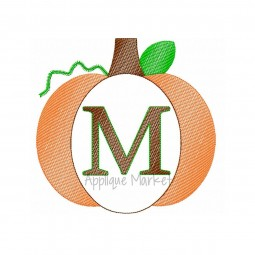 embroidery pumpkin sketch frame serif font_opt