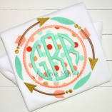 embroidery applique frame arrow tribal beaded monogram