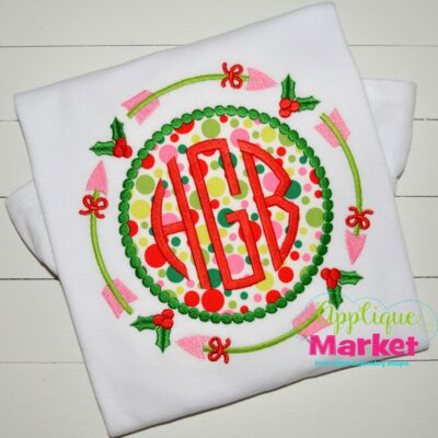applique tribal arrow frame monogram beaded dots