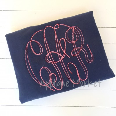 embroidery monogram grand floss bean stitch alphabet font