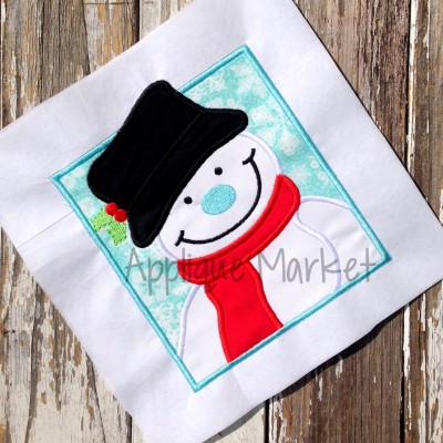 applique snowman box