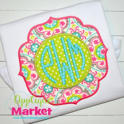embroidery applique frame beaded clara monogram