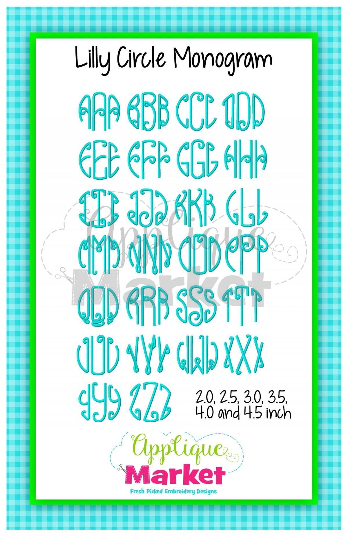 Lilly Circle Monogram Lique Design