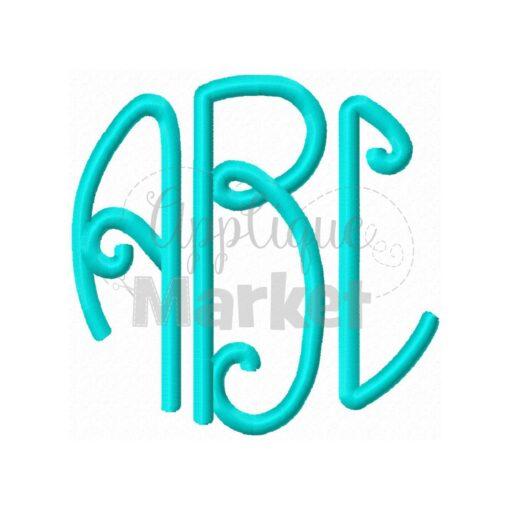 lilly circle monogram