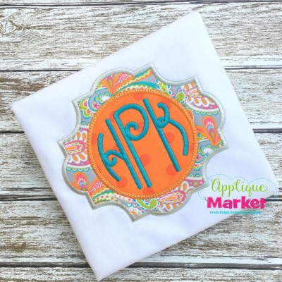 embroidery applique jordan monogram frame