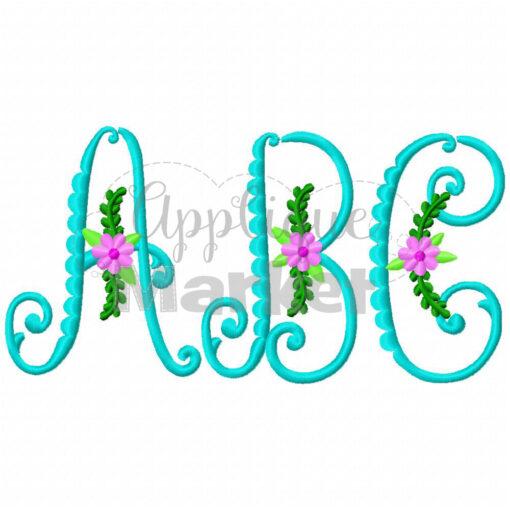 vintage flower monogram
