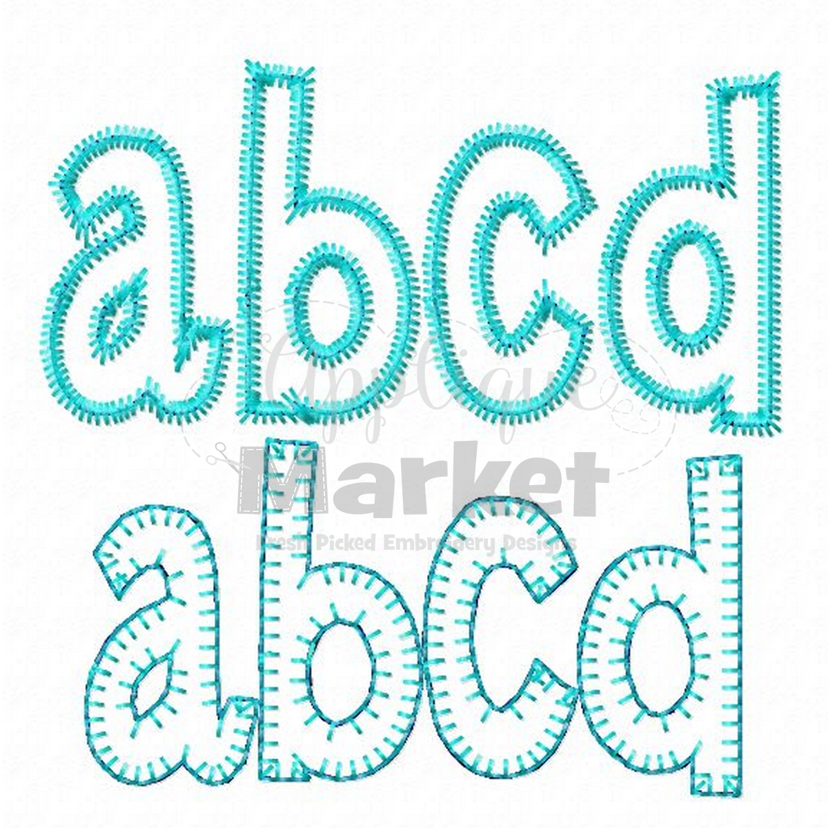 henry applique alphabet applique design