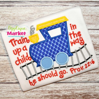 train up a child sample embroidery applique