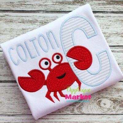 crab applique alphabet