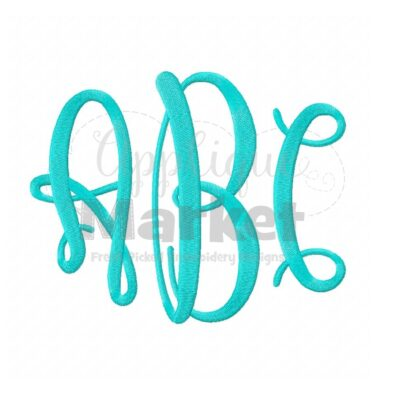 graceful jumbo monogram alphabet