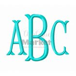 Fishtail Monogram Sample ABC