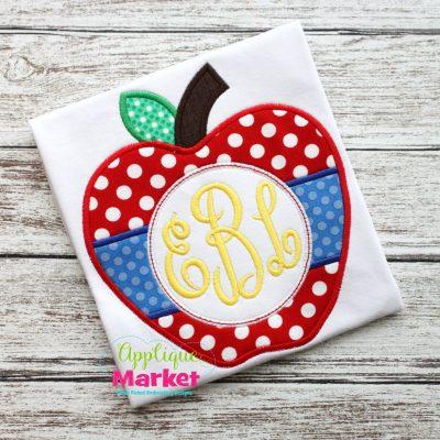 apple circle tab monogram