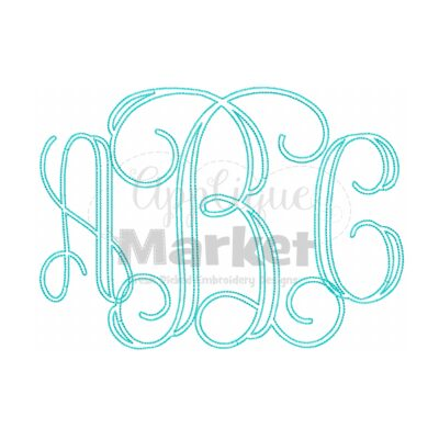 vine bean stitch monogram