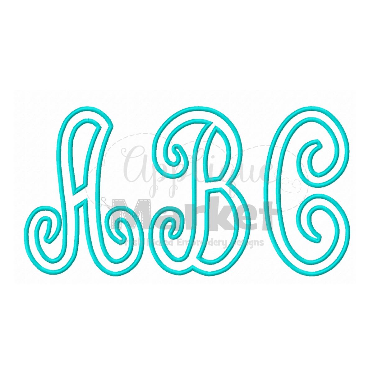scroll applique alphabet
