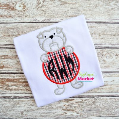 Bulldog Monogram Circle Sample