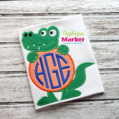 Gator Monogram Circle Sample