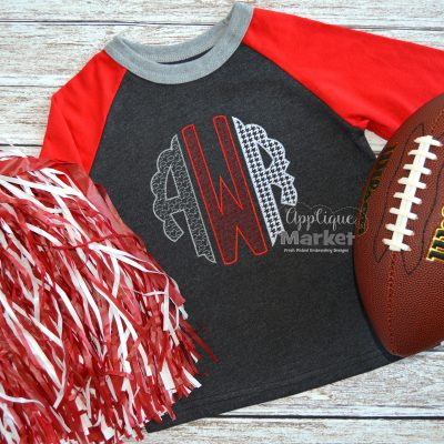 Scallop Circle Patterns-Crimson Gameday Set