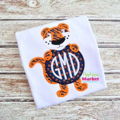 Tiger Monogram Circle Sample