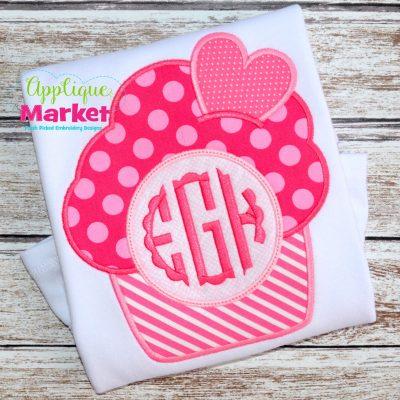 Cupcake Heart Monogram