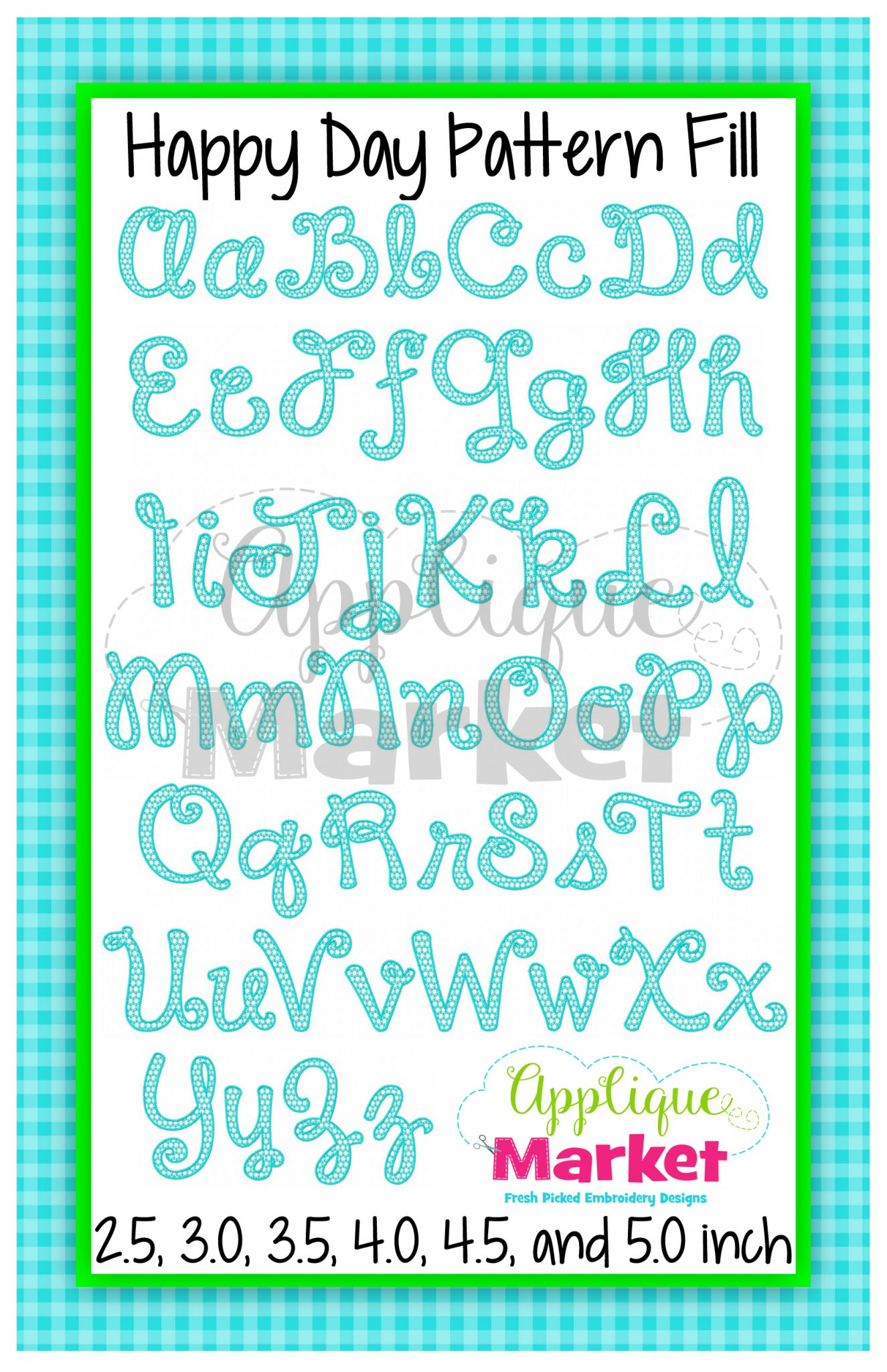 happy day pattern fill alphabet