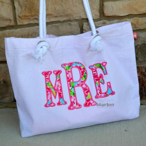 Fishtail Monogram Applique
