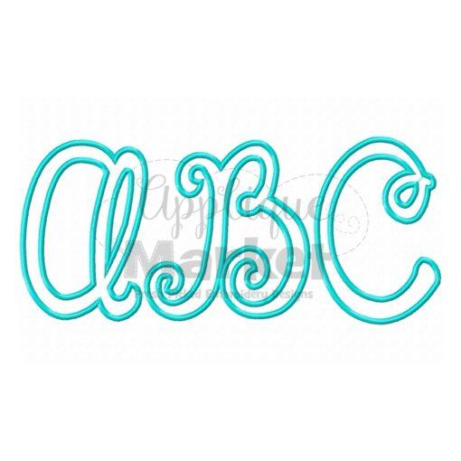 happy day applique alphabet